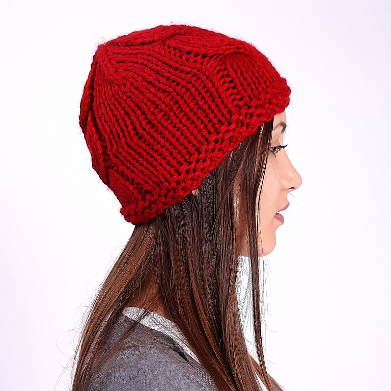 Women Skullies Touca Swag Crochet Kintted Gorro Invierno Hombre Ribbed  Bonnet Women Beanie Female Slouchy Red 981791d7d98