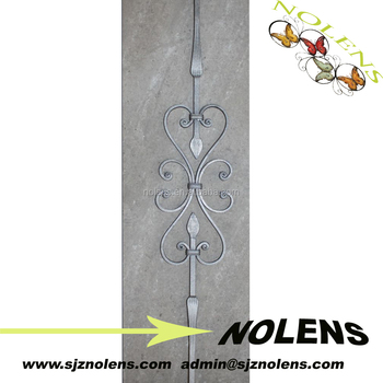 Wrought Iron Spril Stair Accessories Balustrades,Wrought Iron Railings,  Wrought Iron Panels For Fence