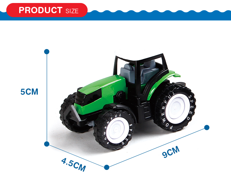 Pull back mini alloy farm tractor kids diecast model cars from shantou factory