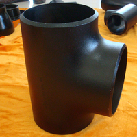 Carbon steel seamless 45 degree lateral tee reducer pipe fitting