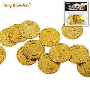 Hot Selling Children Toys Plastic Coins Toy Gold Coins