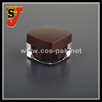 Cosmetics packaging containers, square acrylic cosmetic jar