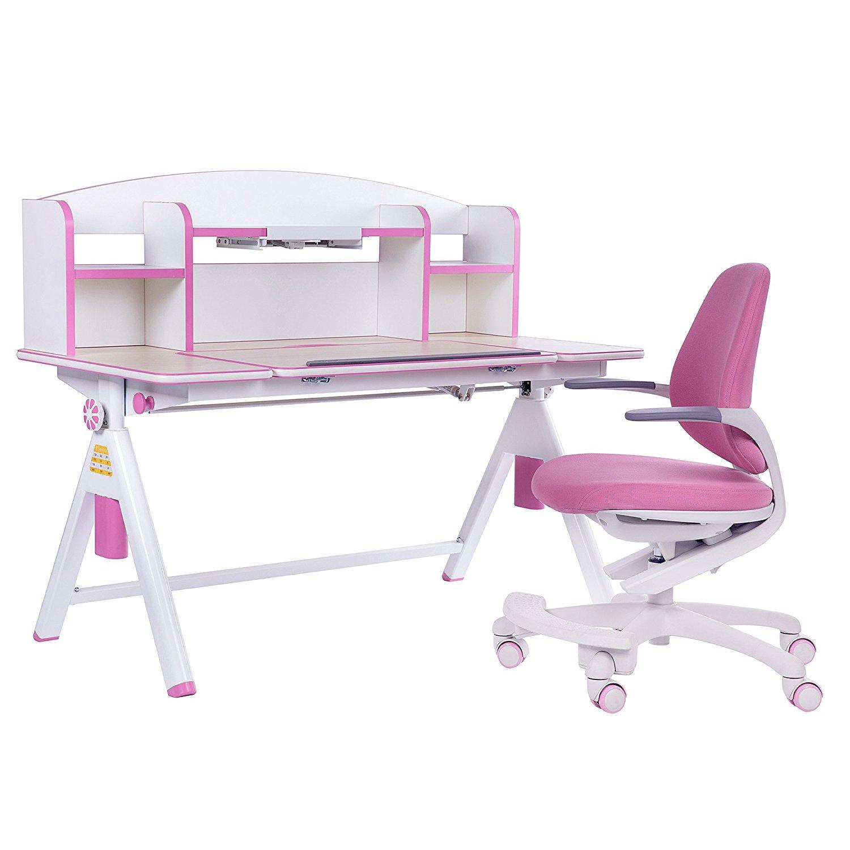Buy Sunon Furniture Height Adjustable Children Desk And Chair Set Kids Computer Desk And Chair Set Student Desk School Desk Combo Kids Study Table Art Desk Workstation 47 Pink In Cheap Price On Alibaba Com