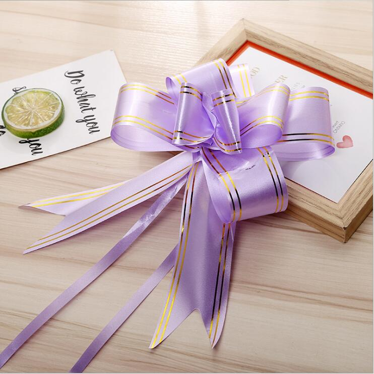 Nice quality gift wrapping pp poly pull ribbon flowers making