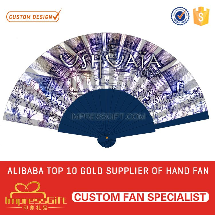 Hot sell mini spanish wooden hand fan for gift