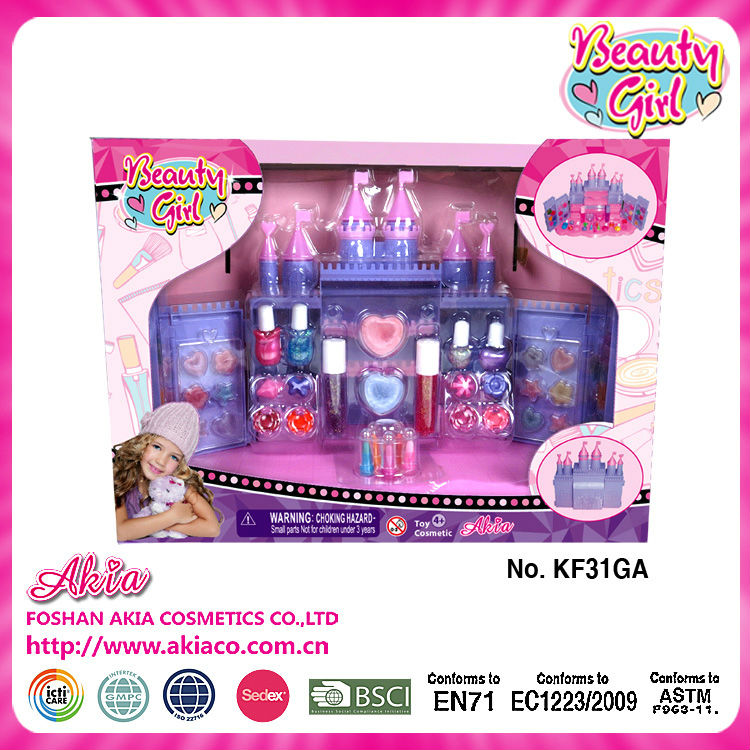 fairy tale princess like castle Kids Make <strong>Up</strong> <strong>Set</strong> Toy by ICTI certified <strong>manufacturer</strong>