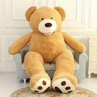Custom design hot selling giant soft teddy bear unstuffed animal skins wholesale