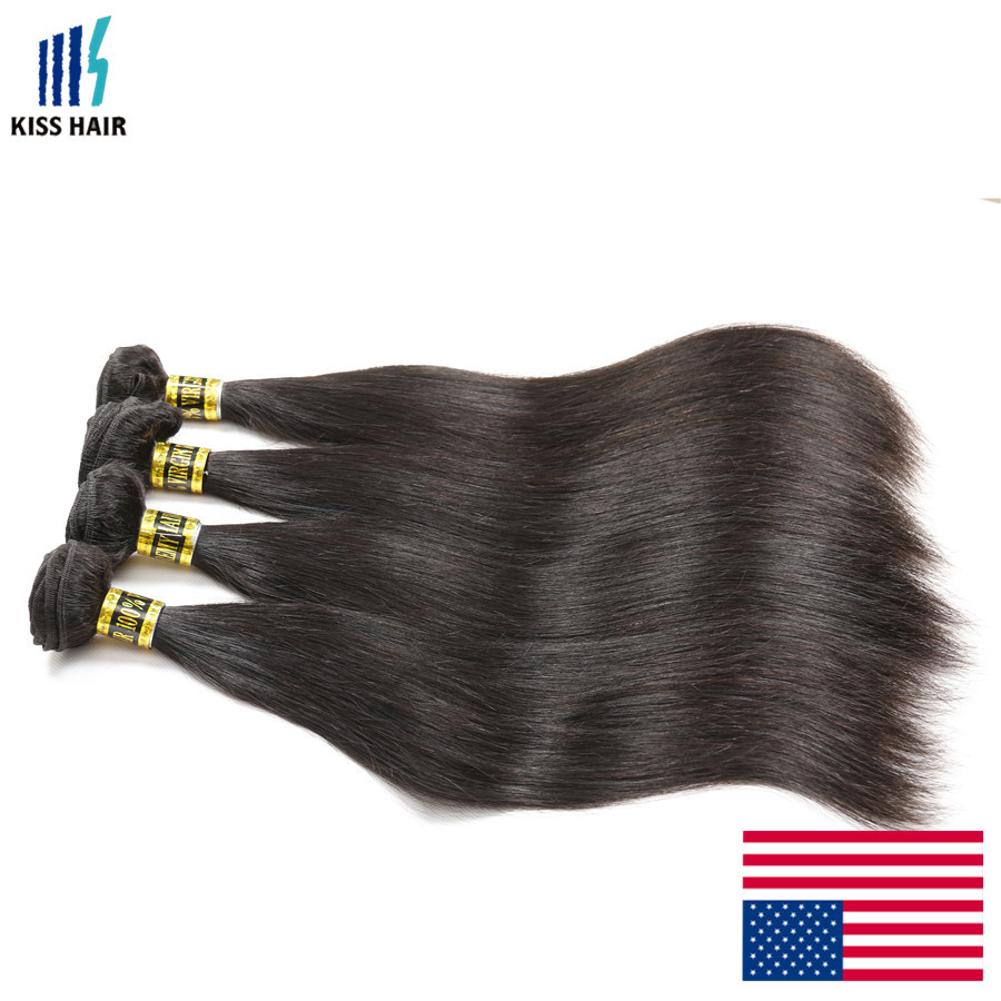 KISSHAIR good quality malaysian red green yellow hair extensions