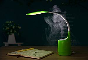 Desk Lamp Humidifier,LED Desk Lamp with Mini Humidifier Function and USB Charge,3 Dimmable Book Light(Green)