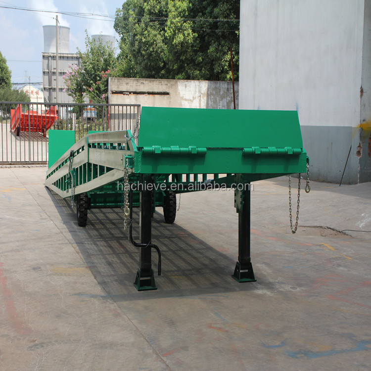 Hydraulic truck unloading ramp /container unloading platform for heavy goods