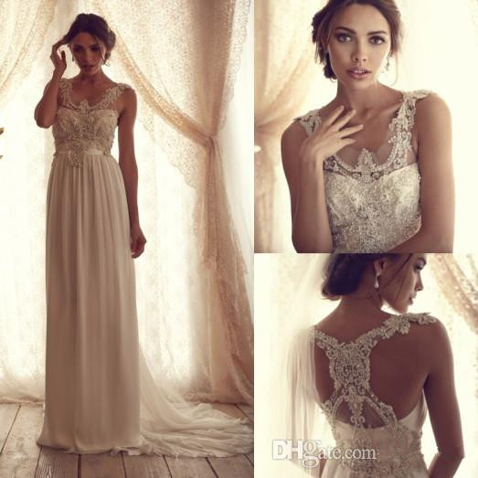 Anna Campbell Wedding Gown: Hot Sale Anna Campbell A Line Wedding Dresses Bridal Gown
