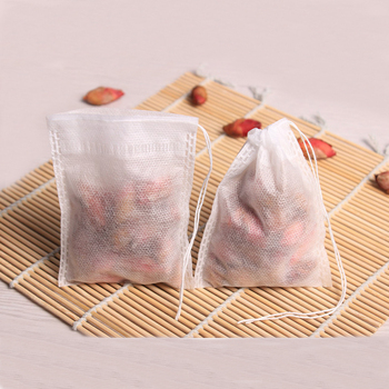 Biodegradable non woven fabric tea bag drip coffee filter bag with drawstring