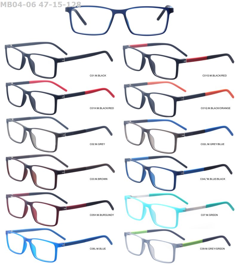 new model cheap design TR90 promotional colorful stock lot optical eyeglasses frame
