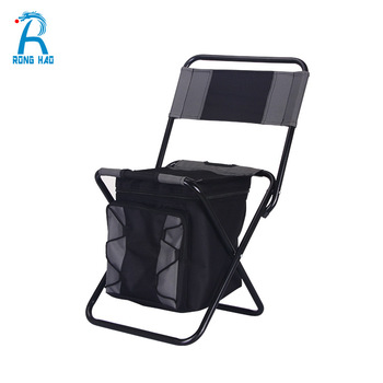 Travel Fishing Backpack Chair ,Outdoor Folding Picnic Cooler Bag Chair with Zipper Bags
