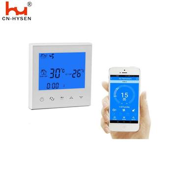 Wifi White Color Home Use Temperature Controller FCU Air Conditioning Thermostat