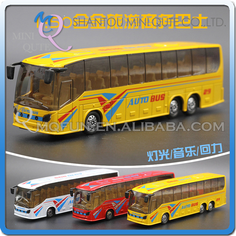 Mini Qute 1:50 kid Die Cast pull back alloy music Double-decker Bus vehicle model car electronic educational toy NO.MQ 8070-31