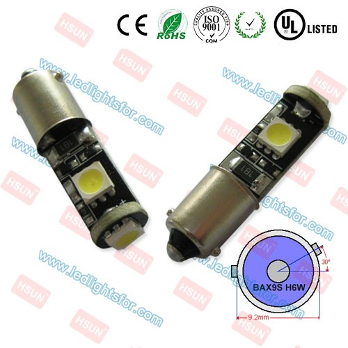 Super Indicator h6w canbus led, led light h6w, led bulb bax9s