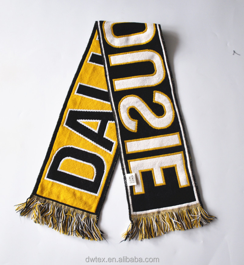 Top Selling Customaize Artwork 100%Acrylic Mini Fans Football Scarf
