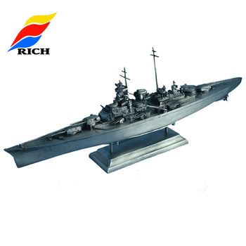 Bismarck Warship Models Battleship Model, Custom Metal Ship Model