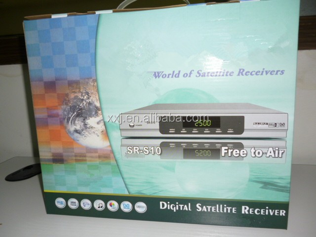 Exported to the Middle East and Africa market DVB-S satellite TV receivers, SR-S10 RS-232 SD set-top box