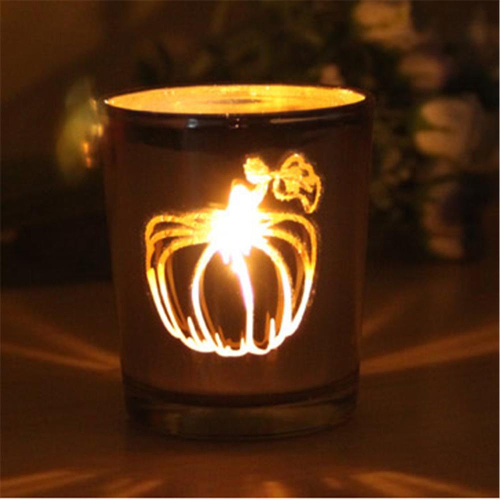 Nuevo dise o de vidrio velas vela linterna de calabaza - Velas de diseno ...