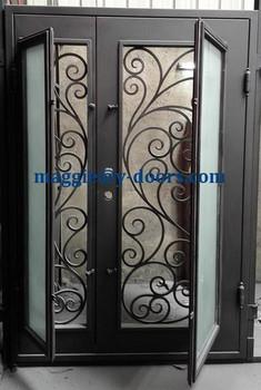 Wrought Iron Double Door Security Design Front Main