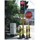 Vertical Installation 300mm Clear Lens Traffic Light, Led traffic signal