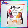 custom label plastic bags for chips packaging back sealed
