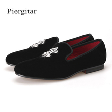 a27112b6c Add to Favorites. Piergitar Bees Indian Silk Embroidery Men Velvet Shoes  Fashion Men Loafers