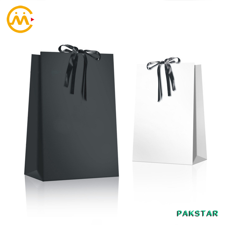 White Paper Gift Bags With Ribbon Handles, White Paper Gift Bags ...