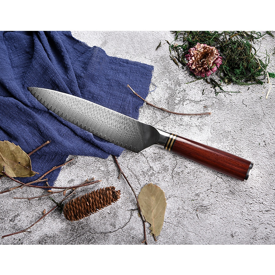 8 inch Japanese VG10 damascus chef knife for sushi with 67 layers steel kitchen knife