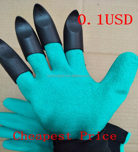 Rubber+polyester Safety Work Gloves Builders Grip Gardening Dig Planting Gloves Mittens Gardening Gloves