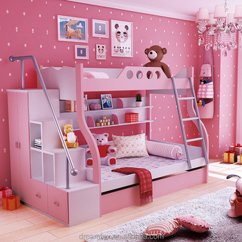 Hot Sale Kids Bunk Bed For Kid Children Double Deck Bed Wooden