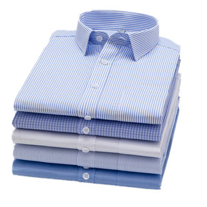 Men's banded cutaway double collar dress Slim Fit Performance Spread Collar Stripe Dress Shirt