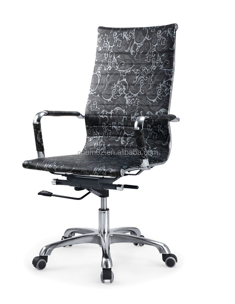 Sleek Style in black with aluminum alloy armrest PU price reasonable chair