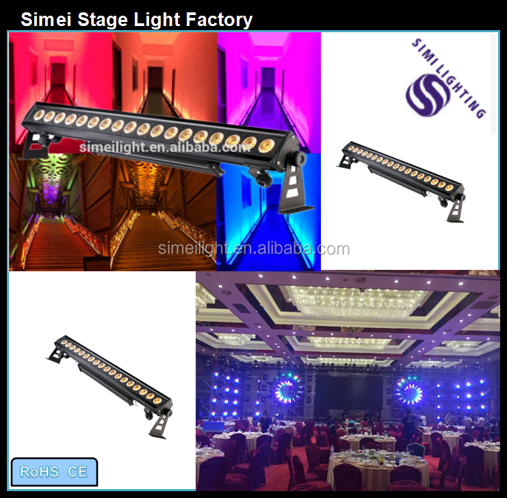 Discount price high power water poorf 18*12W RGBW/A/UV 4in1/5in1/6in1 LEDwall washer light use dj bar club,led outdoor wall wash