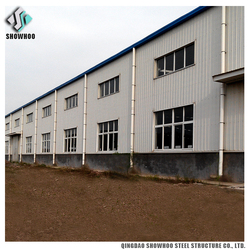 building construction prefabricated warehouse shed sloping roof glass iron structure building