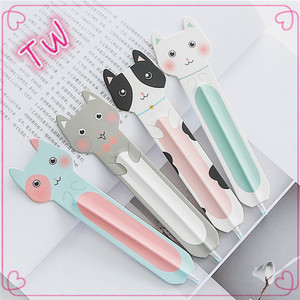 China market latest newest school supplies stationery bulk wholesale cartoon cute shapes plastic ballpoint pens with custom logo