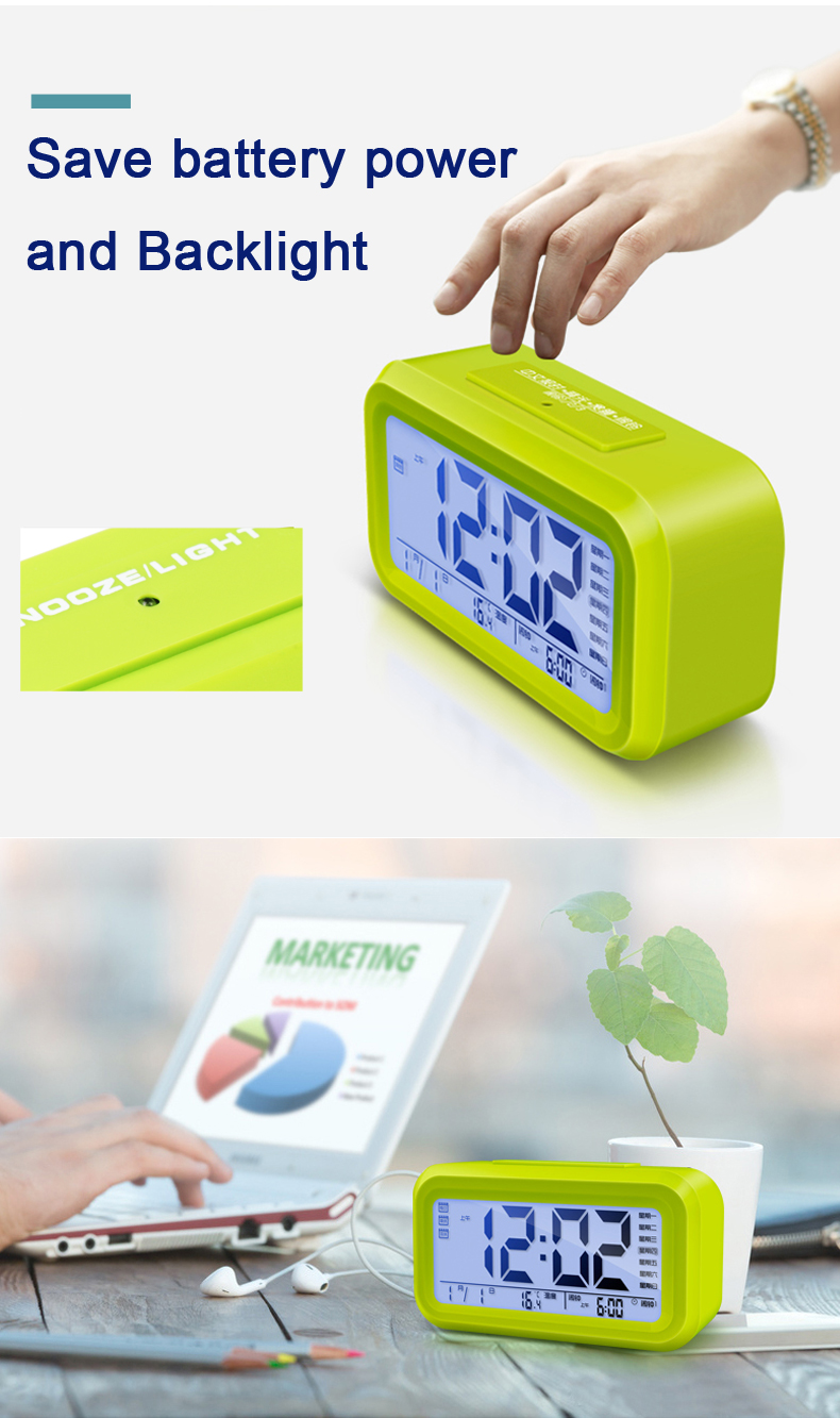 Cheap Multifunction Mini LCD Electric table Digital Alarm Clock with Large Digital Display and Loud Alarm Clock