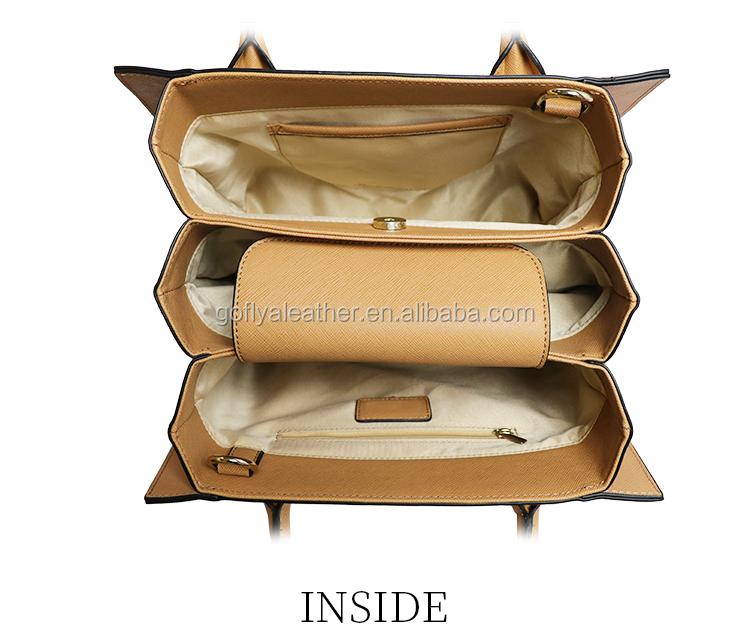 China handbag factory oem Europe elegance multi color woman tote pu leather handbag for sale