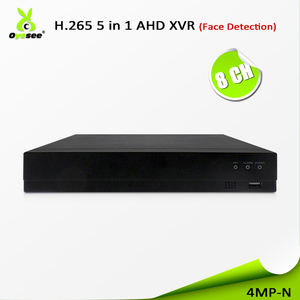 2018 New function h.265 cctv system 4MP dvr kit 8 channel XVI CVI AHD 5 in 1 xvr with face recognition and power supply