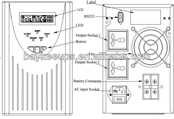 smart line interactive ups circuit diagram ups 5000va buy line rh alibaba com Rectifier Circuit Diagram Circuit Diagram PDF