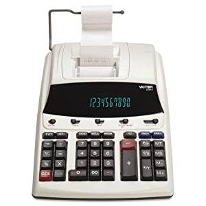 """Victor - 1230-4 Fluorescent Display Printing Calculator Black/Red Print 3 Lines/Sec """"Product Category: Office Machines/Calculators & Counters"""""""