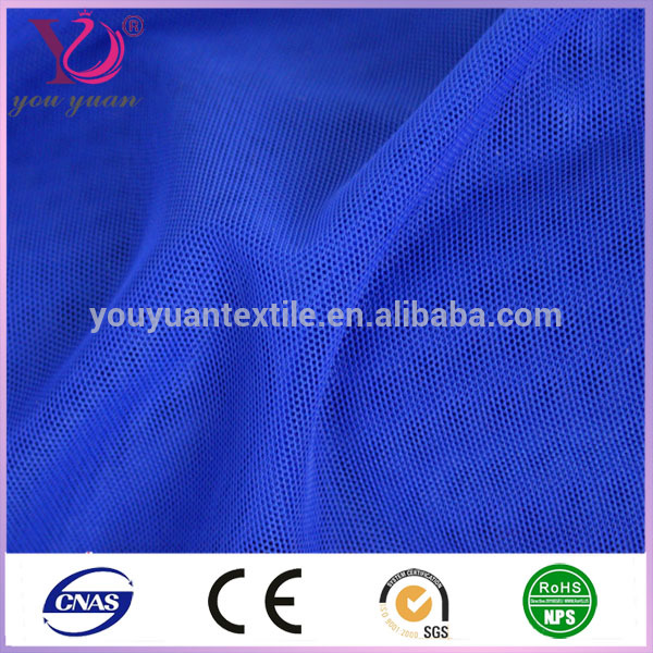 Polyester / chinlon spandex mesh fabric tulle stretch fabric