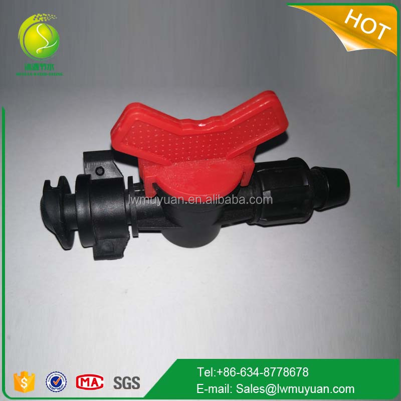 New type plastic Mini Valve for Drip Line irrigation tape