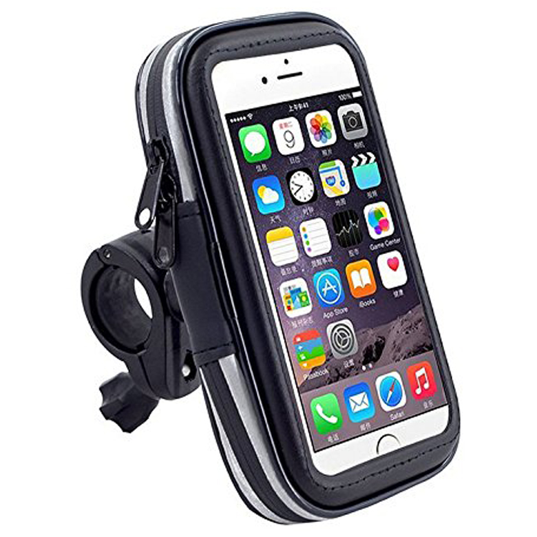 Mobile Phone GPS Waterproof Zip Bag Bicycle Front Handlebar Holder for iPhone