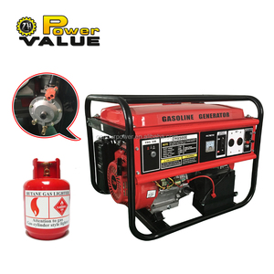 Power Value taizhou 5kw lpg gas electric generator, gasoline natural gas generator