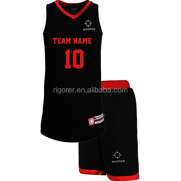 Rigorer basketball jerseys with latest design 2018