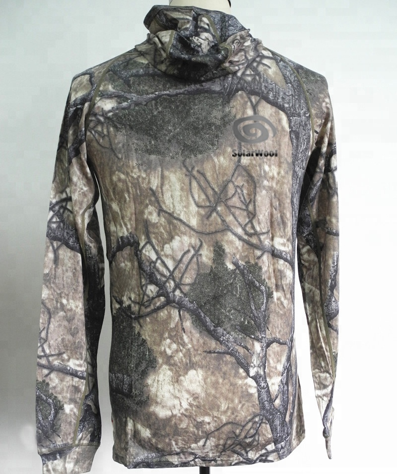 Merino Wool Hunting Wear  Camo Printing