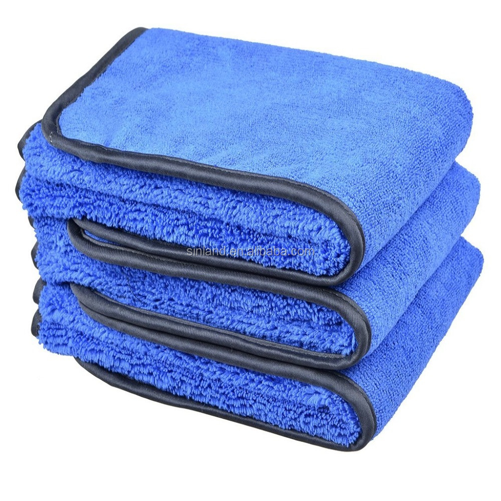 Sinland Microfiber 400gsm Two Different Sides for Car Cleaning Towel Car Cleaning Cloth фото